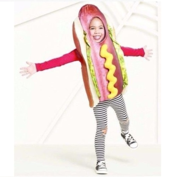 kids hot dog halloween costume toddler 2 3t new
